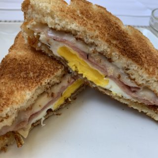 Ham Egg and Cheese Sandwich
